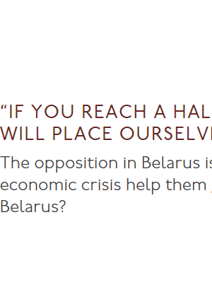 Blir ni en halv miljon står vi på er sida. Intervju med Svetlana Aleksijevitj.